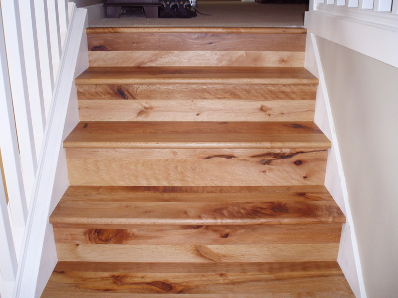 Character Grade Chestnut Stair Treads And Risers Job Finished