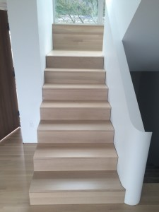 White Oak Stairs finished